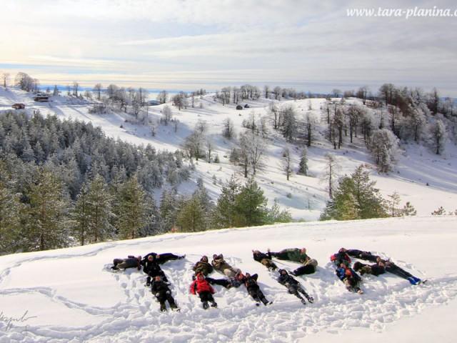 Zima u Zaovinama na Tari