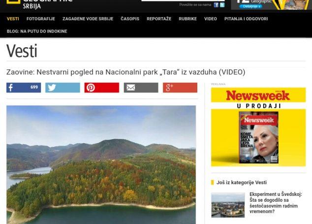 Moj video o Zaovinama na Nacionalnoj Geografiji Srbije